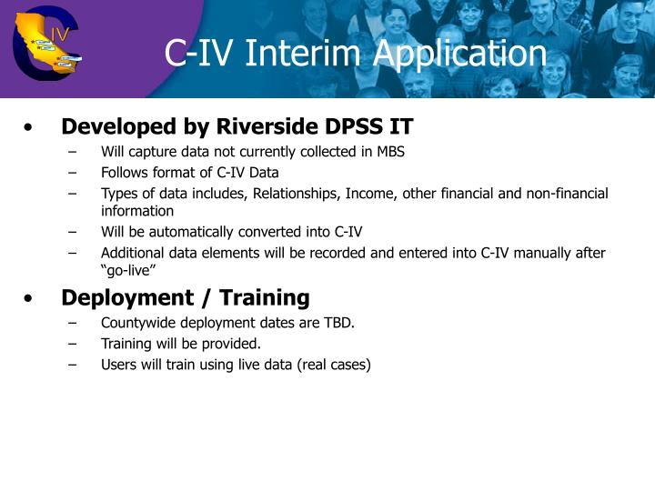 C-IV Interim Application