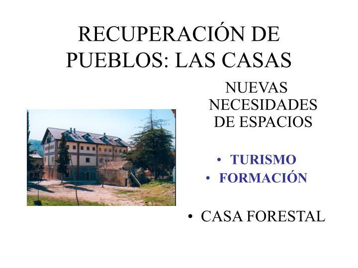 RECUPERACIÓN DE PUEBLOS: LAS CASAS