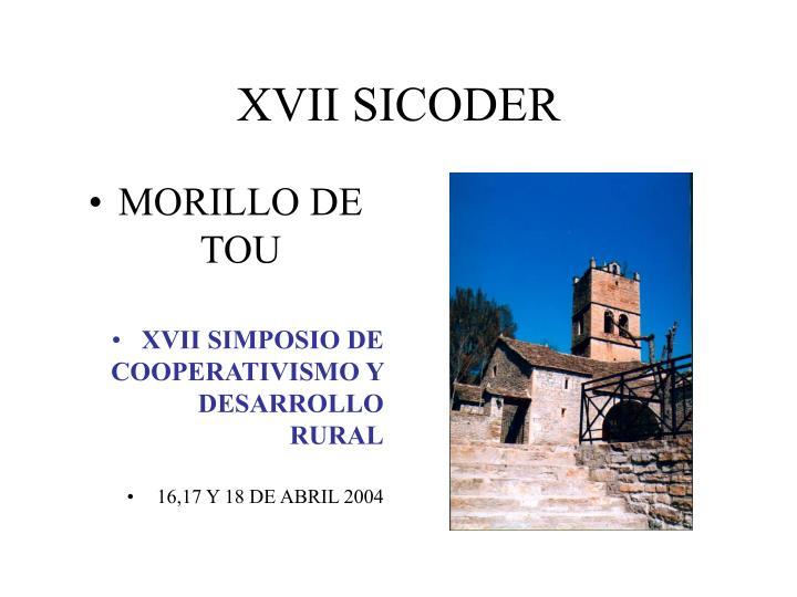 XVII SICODER