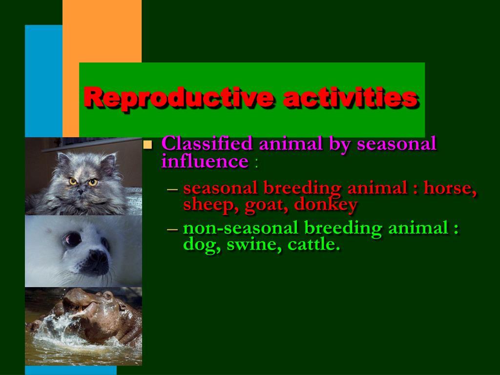 Reproductive activities