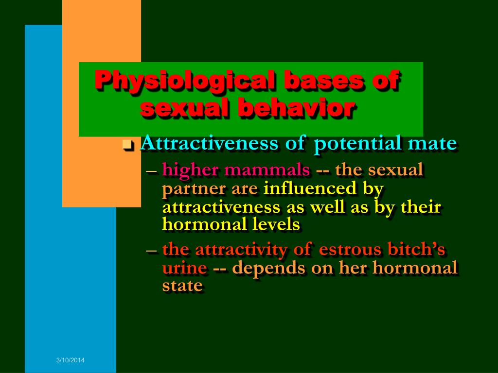 Physiological bases of sexual behavior