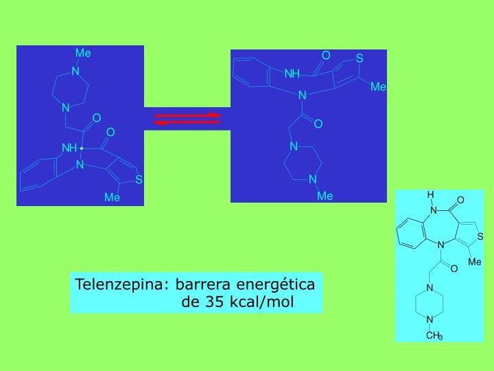 Telenzepina: barrera energética