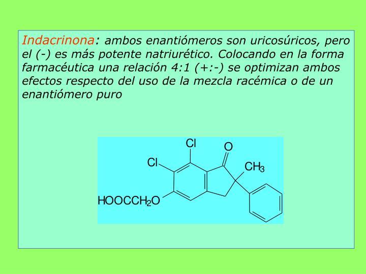 Indacrinona