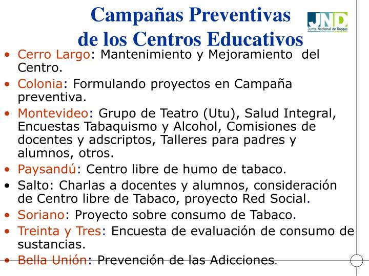 Campañas Preventivas