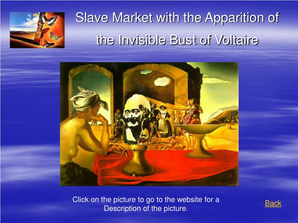 Slave Market with the Apparition of the Invisible Bust of Voltaire