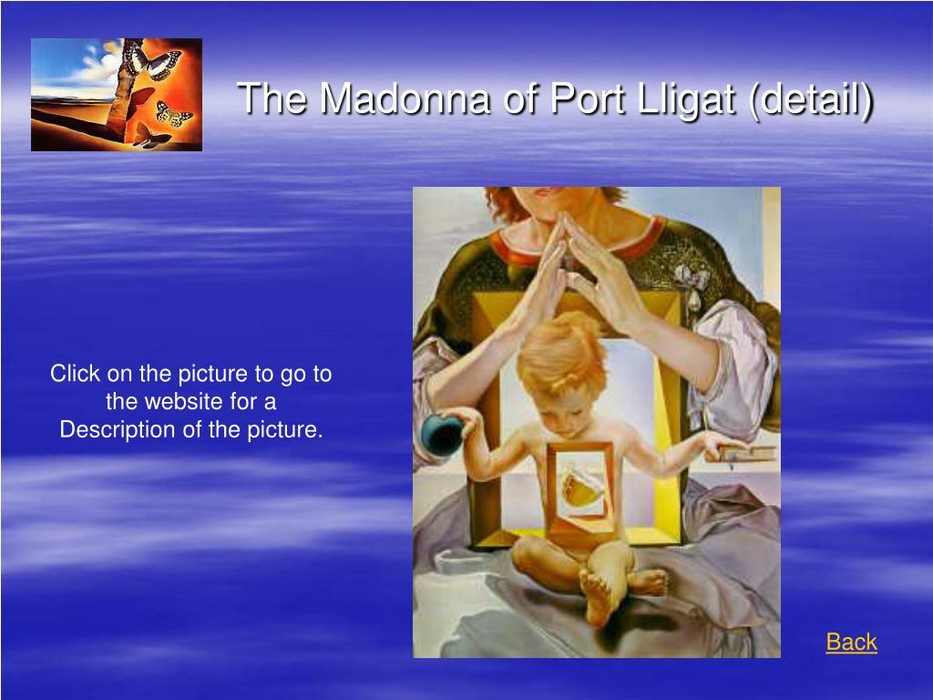The Madonna of Port Lligat (detail)