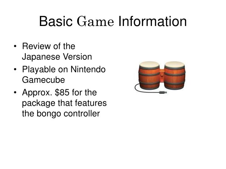 Basic game information l.jpg