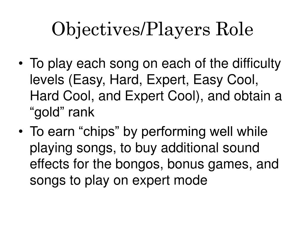 Objectives/Players Role