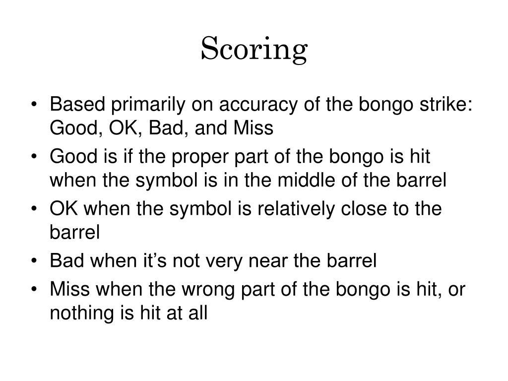 Scoring