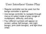 user interface game play