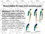 macroevolution the origin of new taxonomic groups