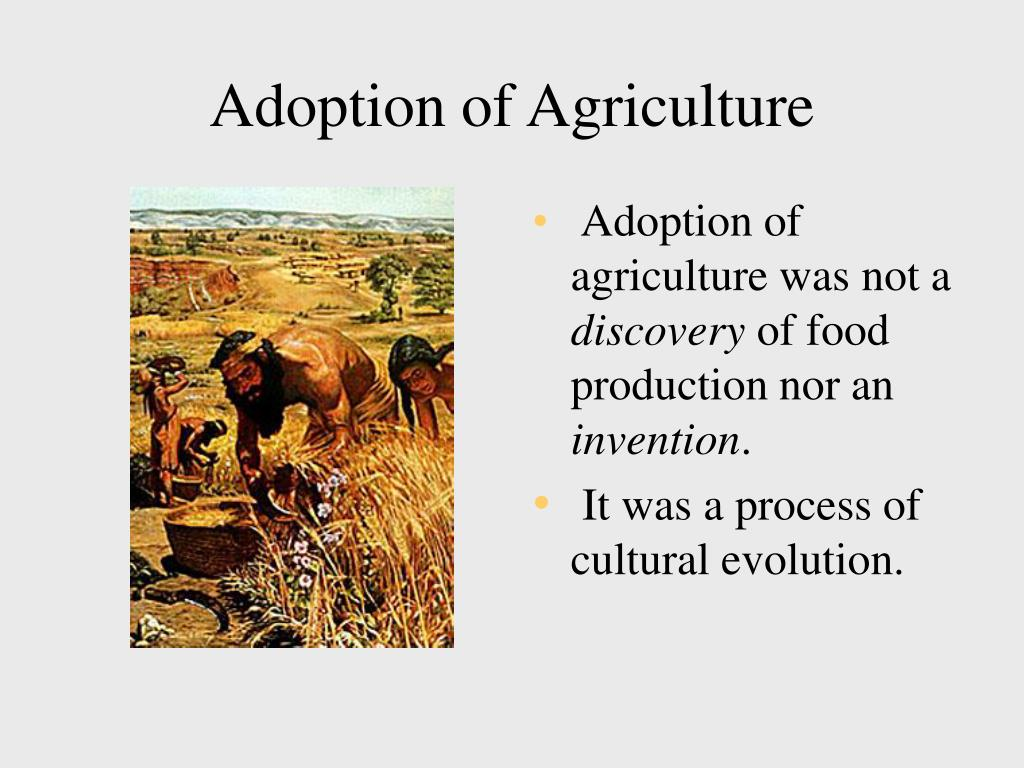 Adoption of Agriculture