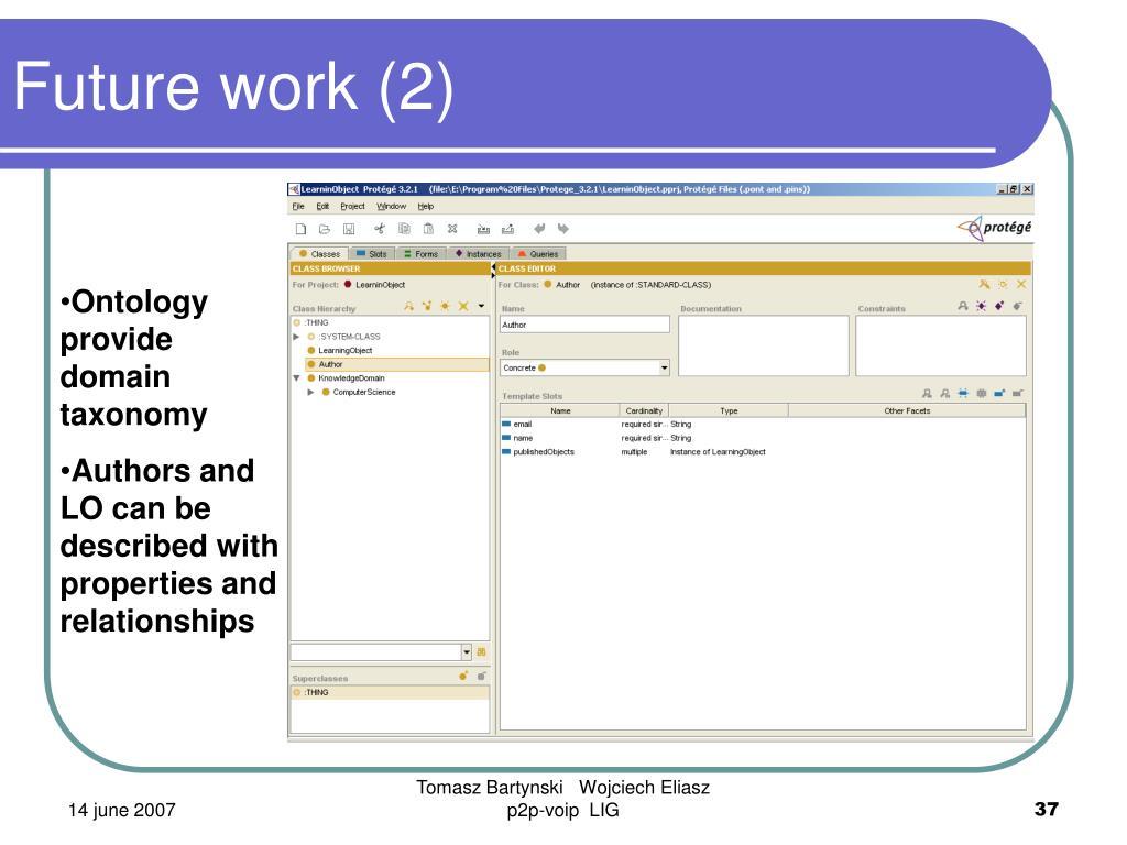 Future work (2)
