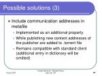 possible solutions 3
