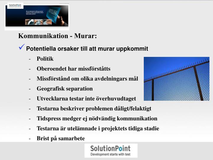 Kommunikation - Murar: