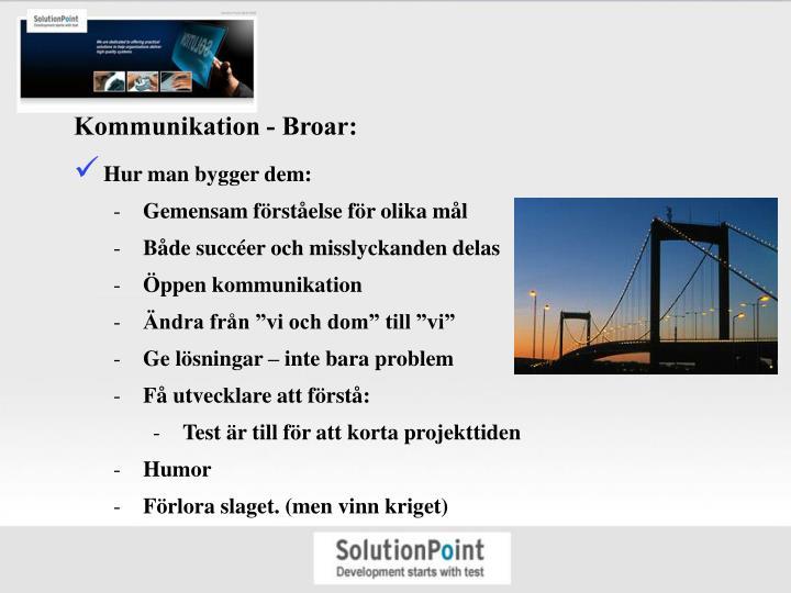 Kommunikation - Broar: