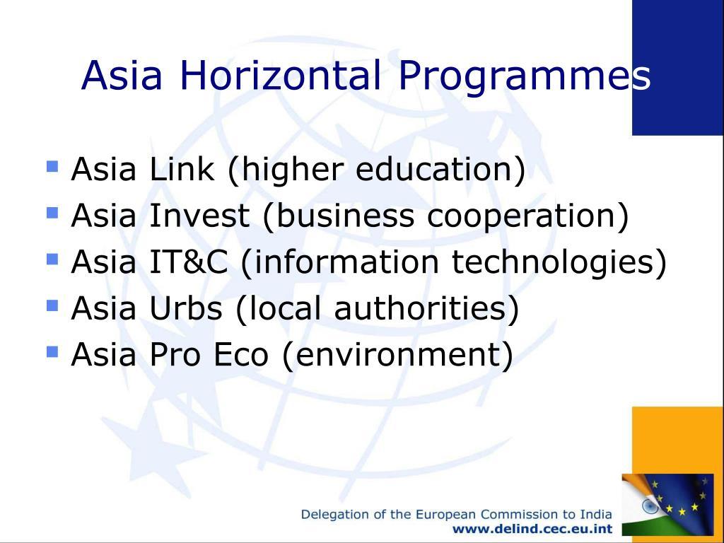 Asia Horizontal Programme
