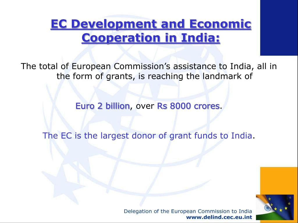 EC Development and Economic Cooperation in India: