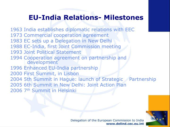 Eu india relations milestones