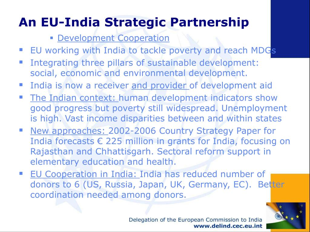 An EU-India Strategic Partnership