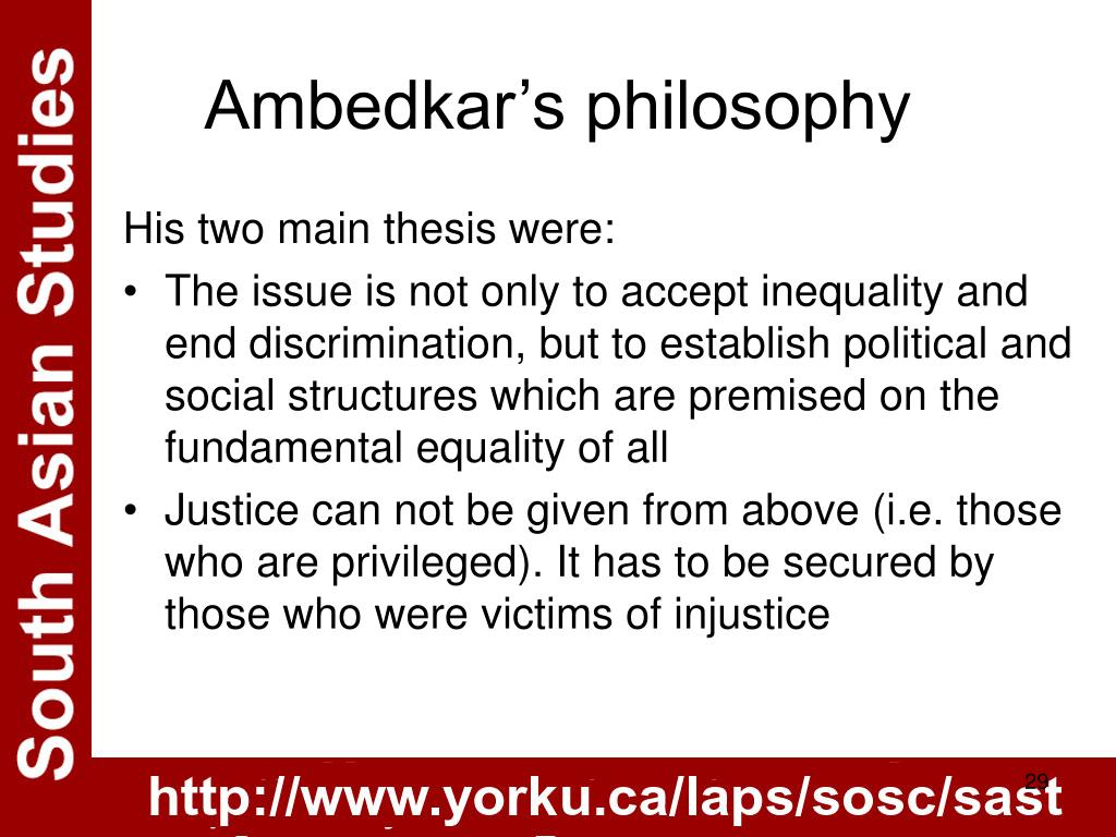Ambedkar's philosophy