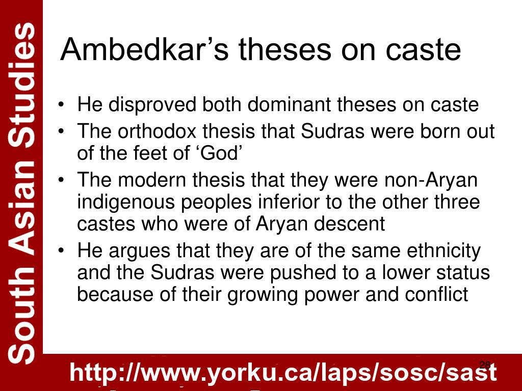 Ambedkar's theses on caste