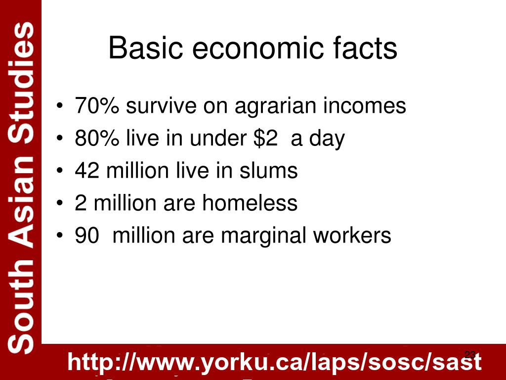 Basic economic facts