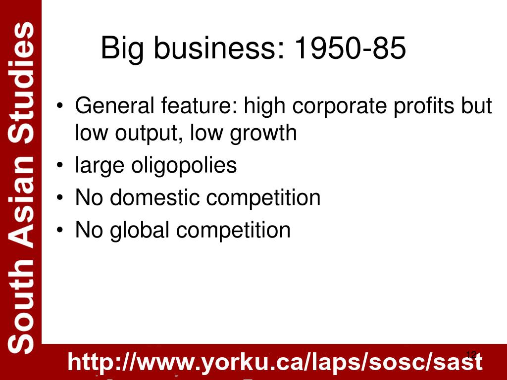 Big business: 1950-85