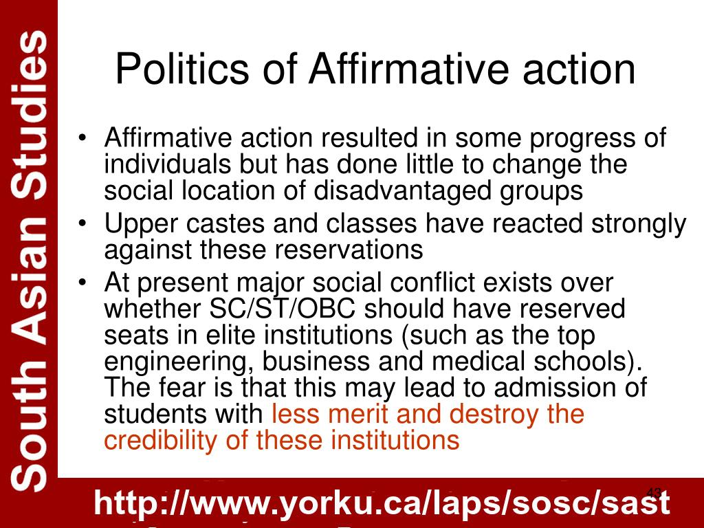 Politics of Affirmative action