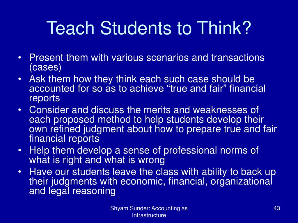 Teach Students to Think?