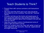 teach students to think