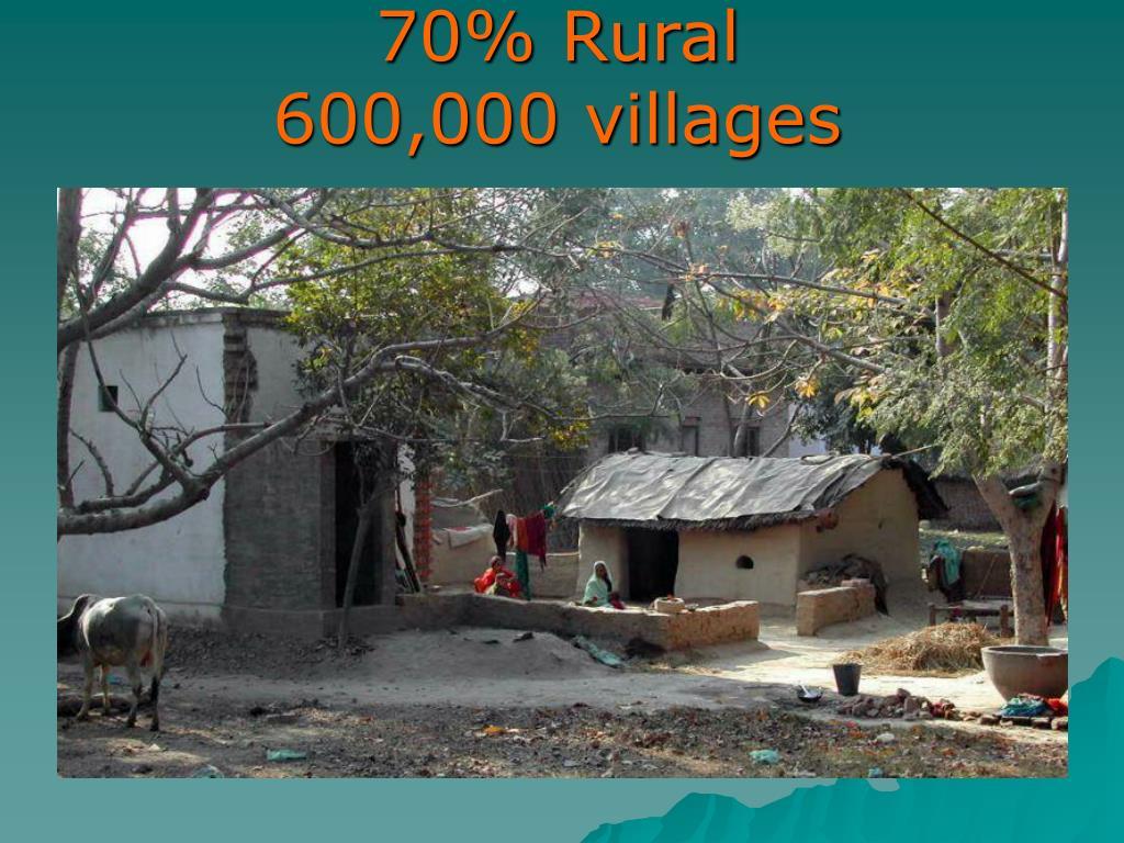 70% Rural