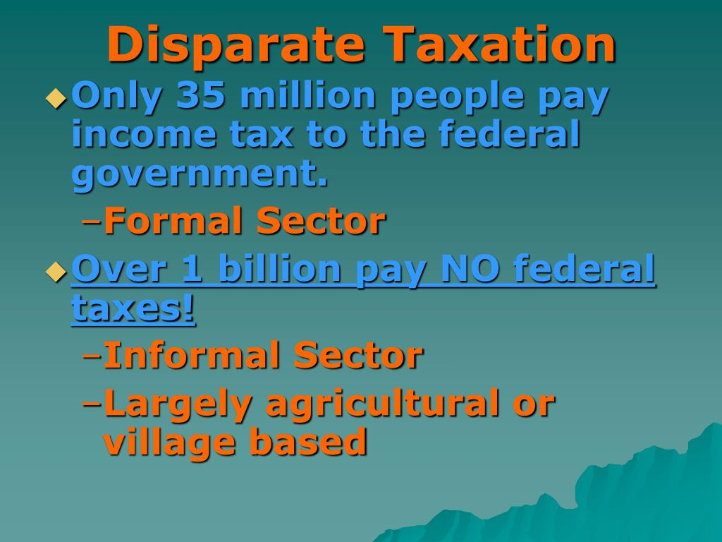 Disparate Taxation
