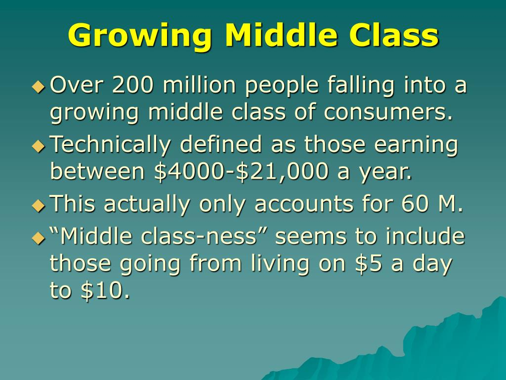 Growing Middle Class