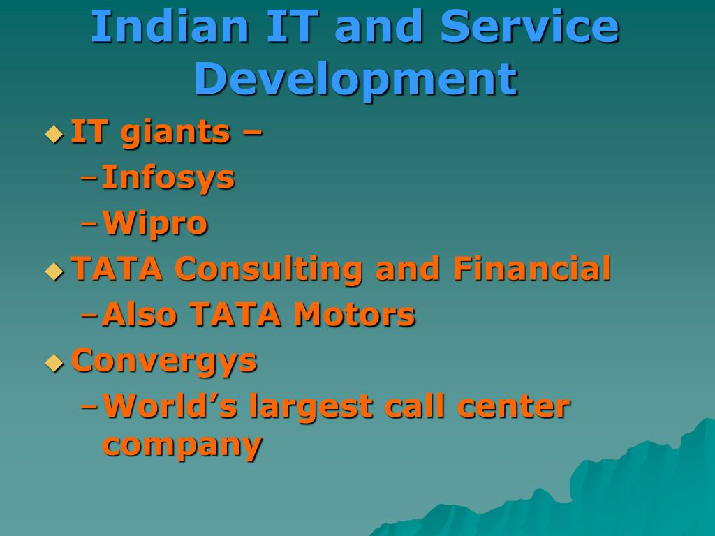 Indian IT and Service Development