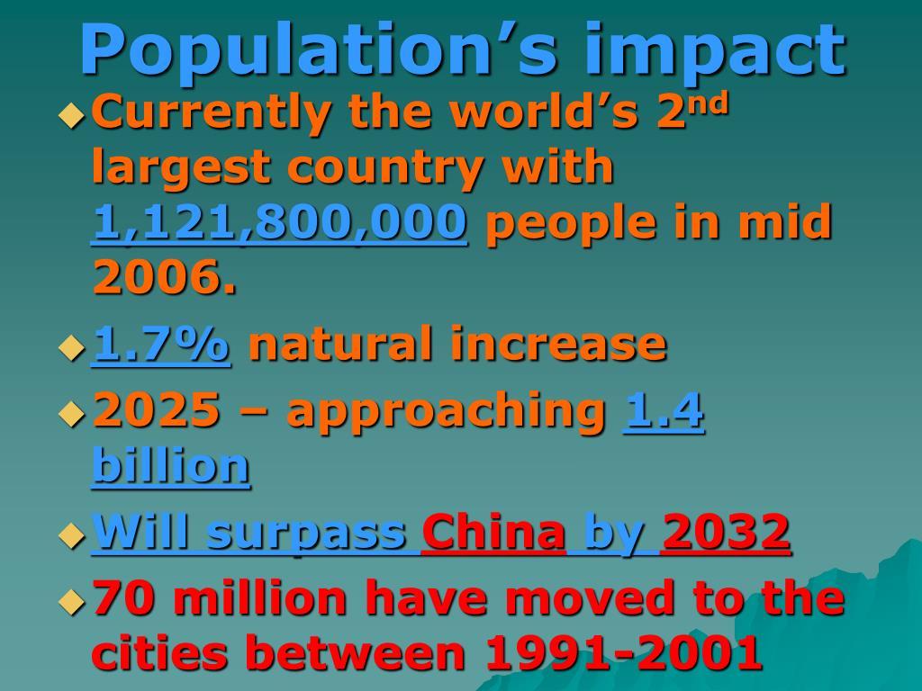 Population's impact