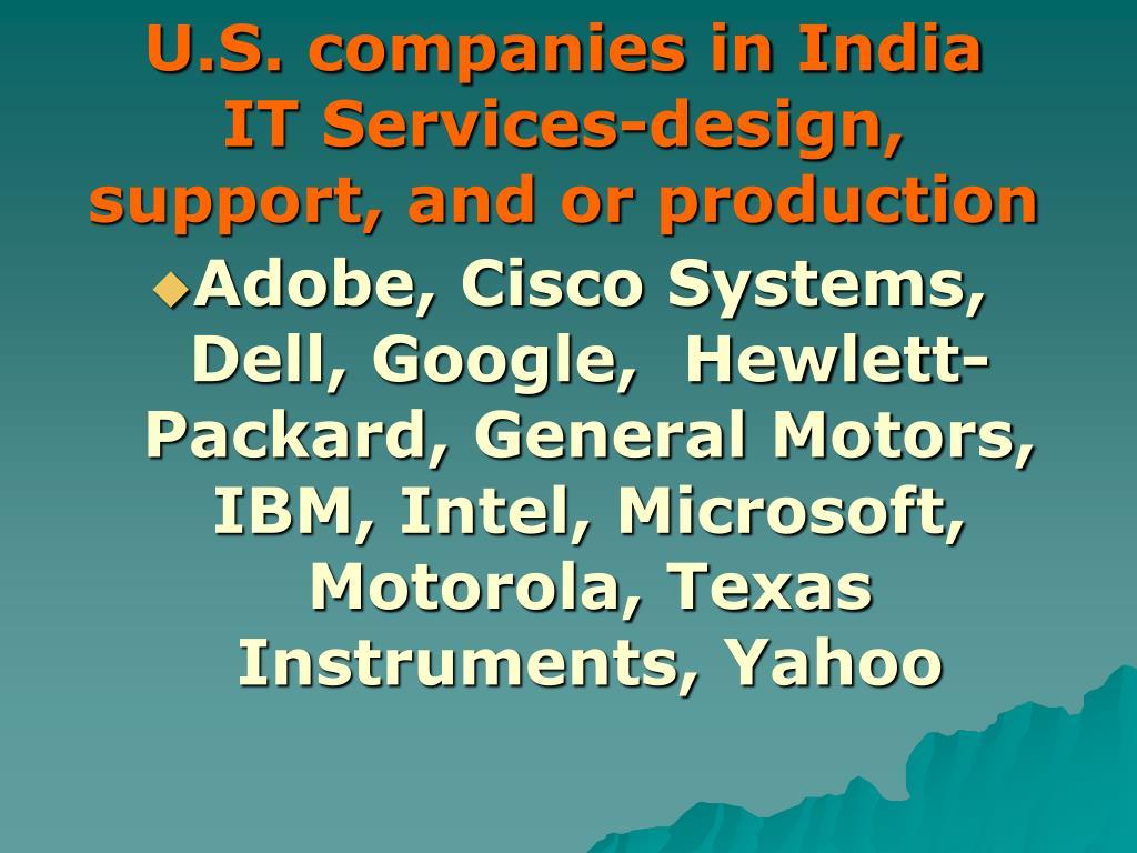 U.S. companies in India