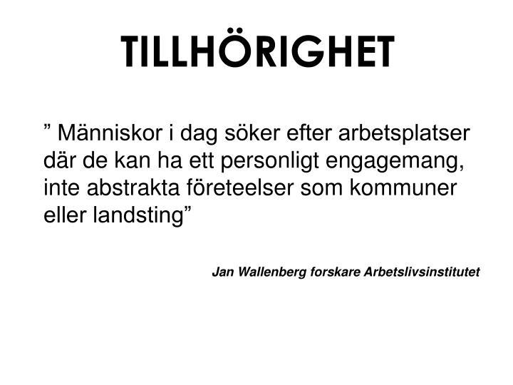 TILLHÖRIGHET