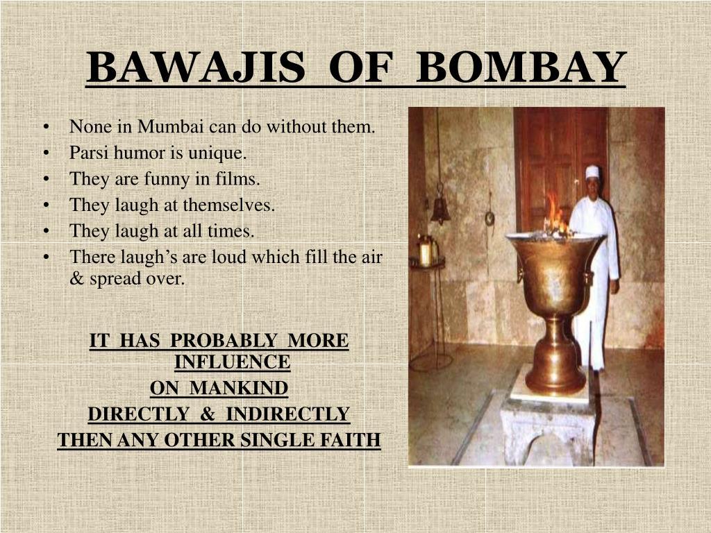 BAWAJIS  OF  BOMBAY