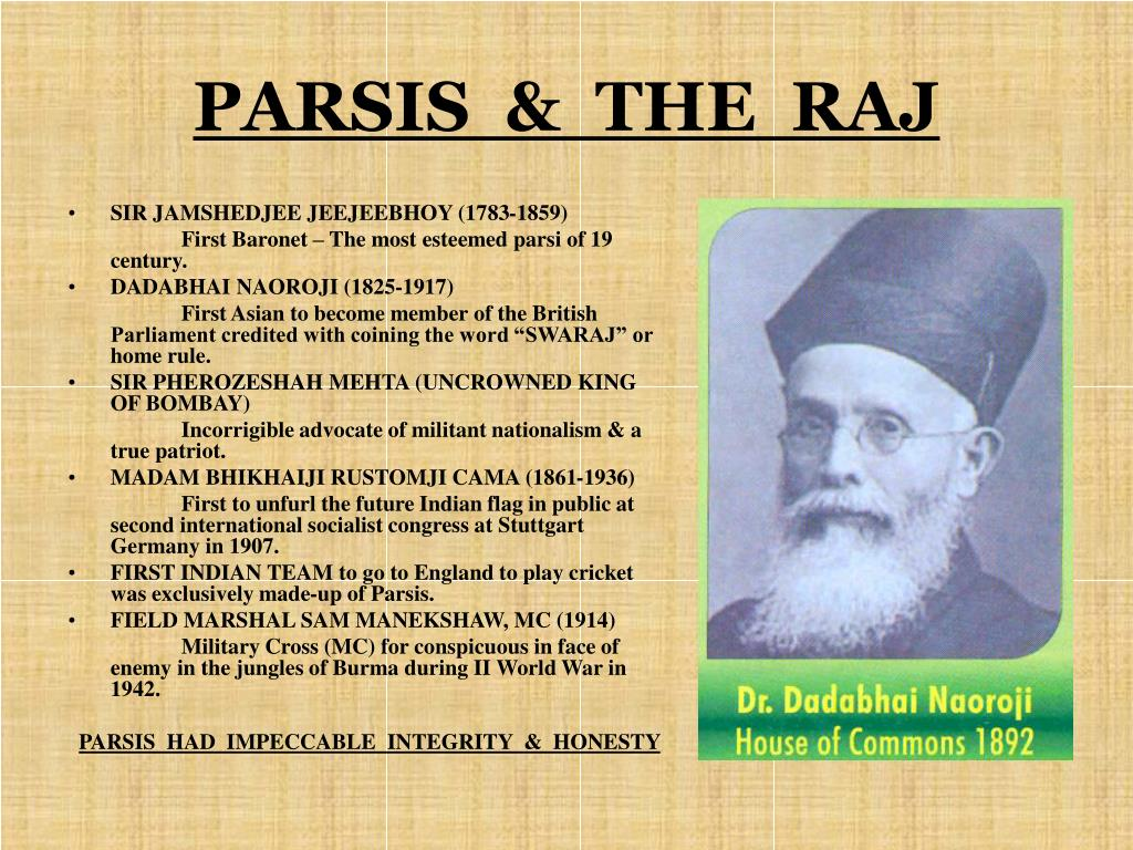 PARSIS  &  THE  RAJ