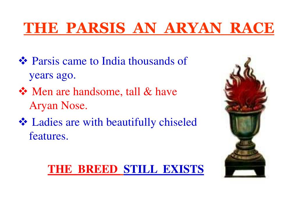 THE  PARSIS  AN  ARYAN  RACE