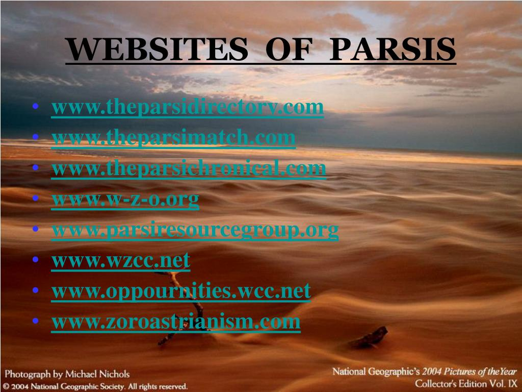 WEBSITES  OF  PARSIS