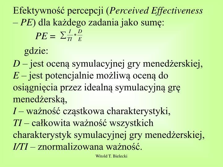 Efektywność percepcji (