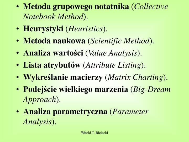 Metoda grupowego notatnika