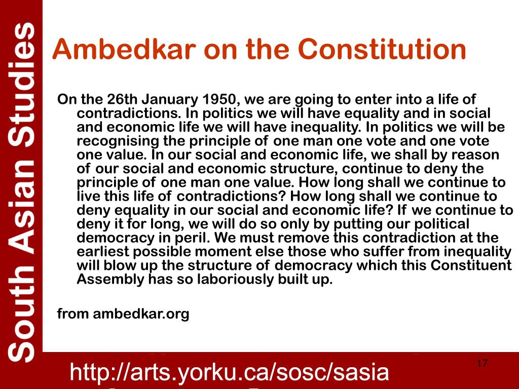 Ambedkar on the Constitution