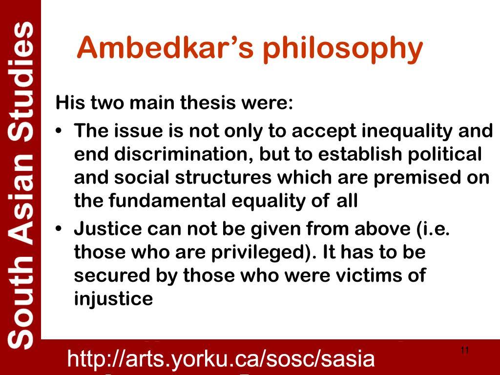 Ambedkar's philosophy