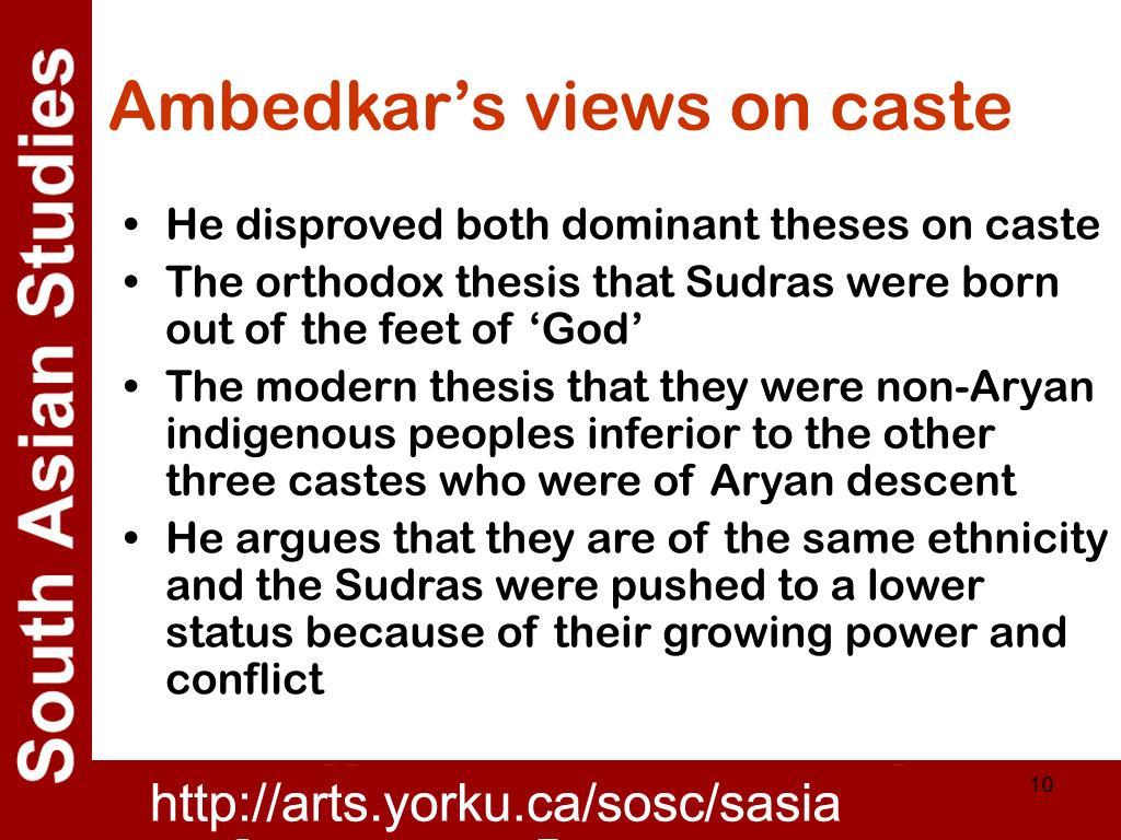 Ambedkar's views on caste