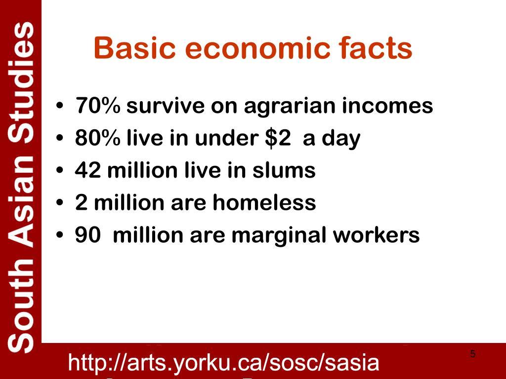 Basic economic facts