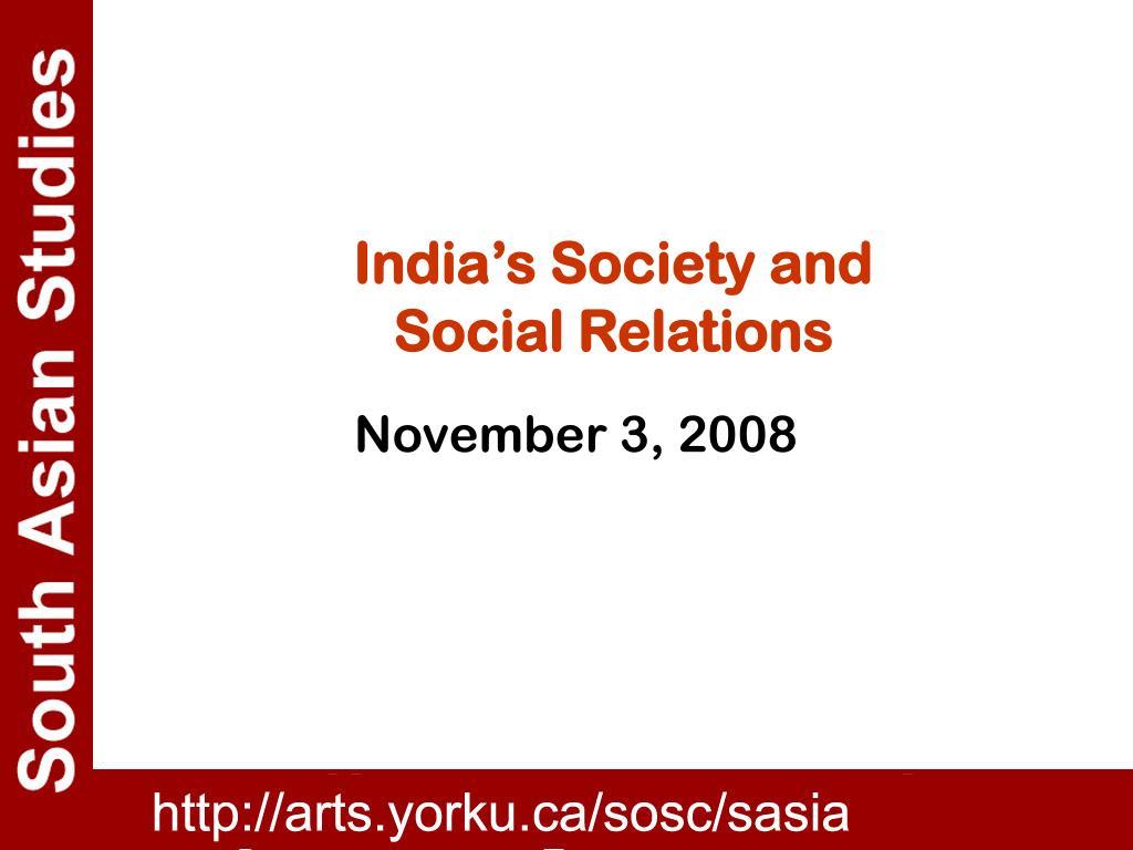 India's Society and