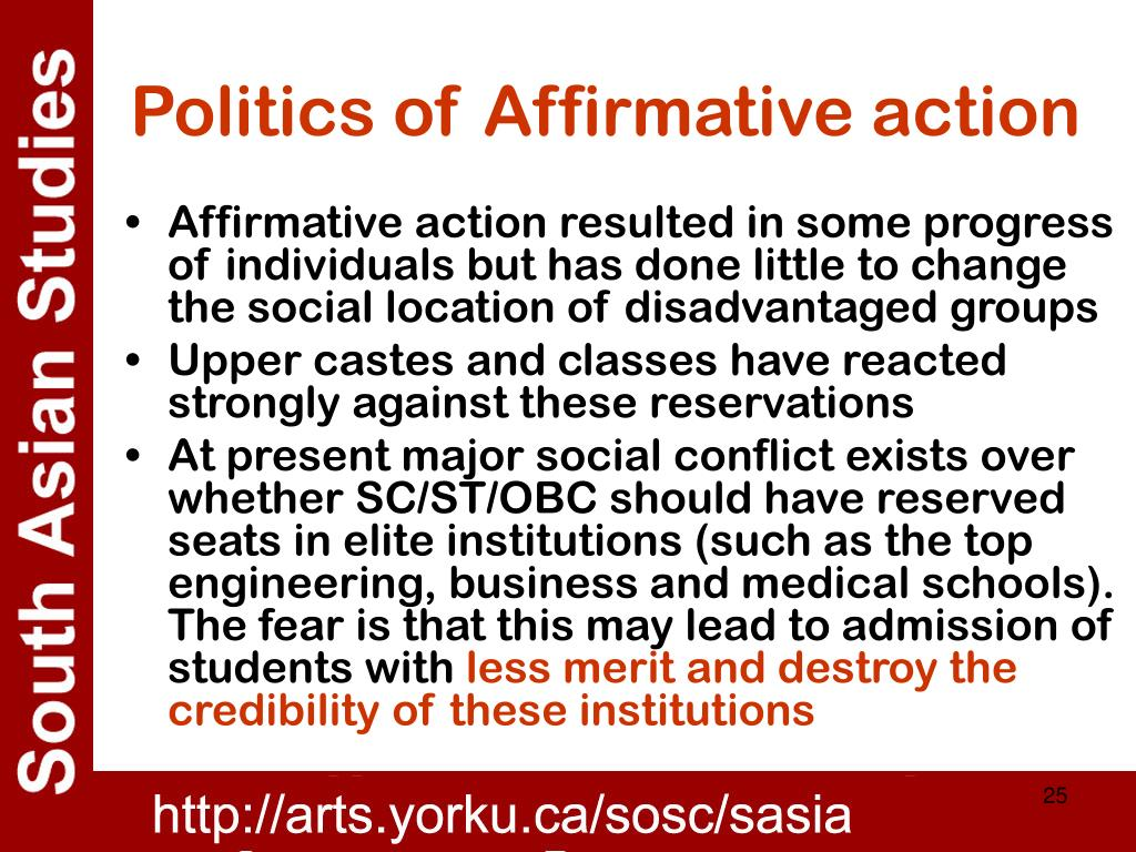 Politics of Affirmative action